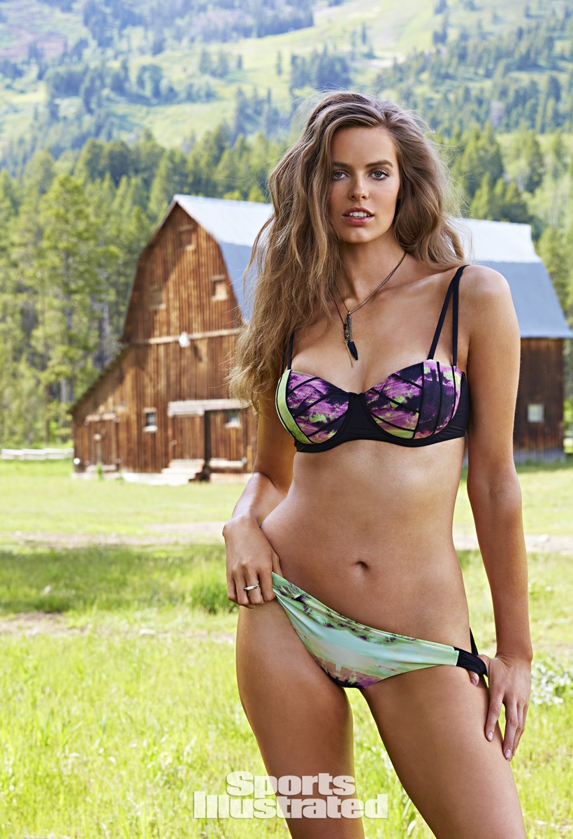 Robyn Lawley in a swimsuit from her own line. Photo: Sports Illustrated