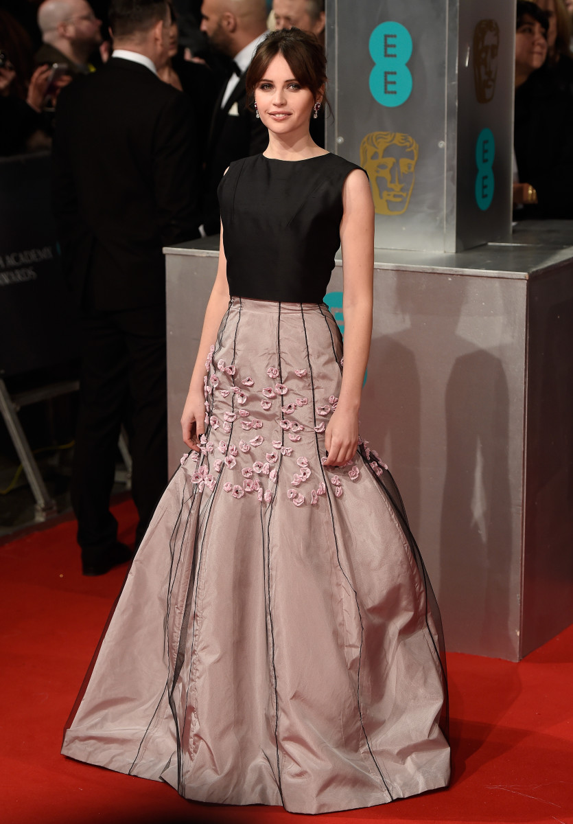 Felicity Jones in Christian Dior spring 2013 couture. Photo: Ian Gavan/Getty Images