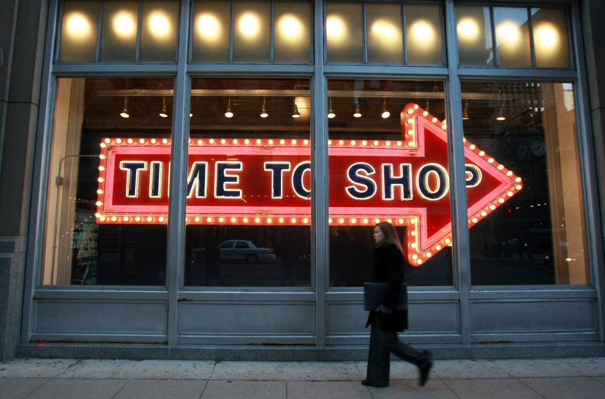 An Old Navy storefront. Photo: Justin Sullivan