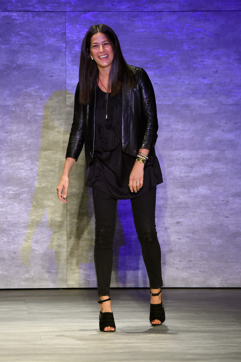Rebecca Minkoff walks the runway at spring 2015 show. Photo: Frazer Harrison/Getty Images for Mercedes-Benz Fashion Week