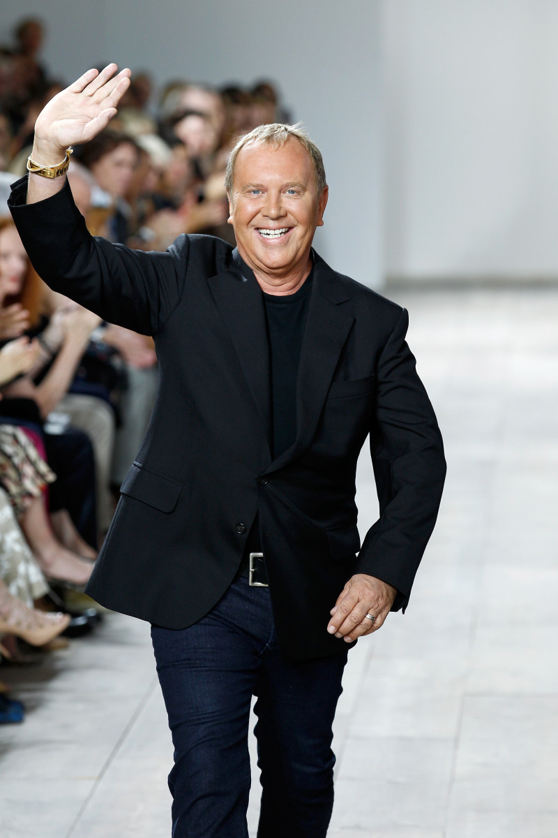 Michael Kors walks the runway at his spring 2015 show. Photo: Peter Michael Dills/Getty Images for Mercedes-Benz