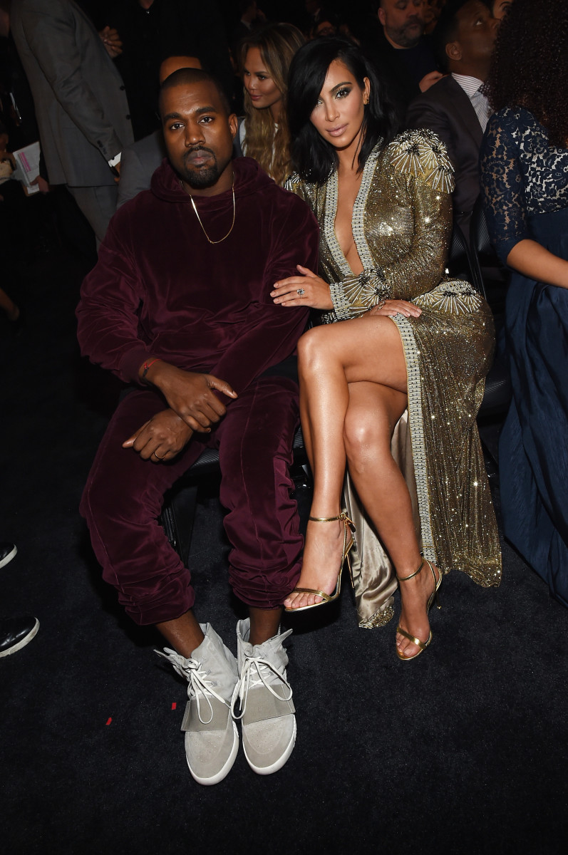 Kanye West in Kanye West x Adidas. Photo: Larry Busacca/Getty Images