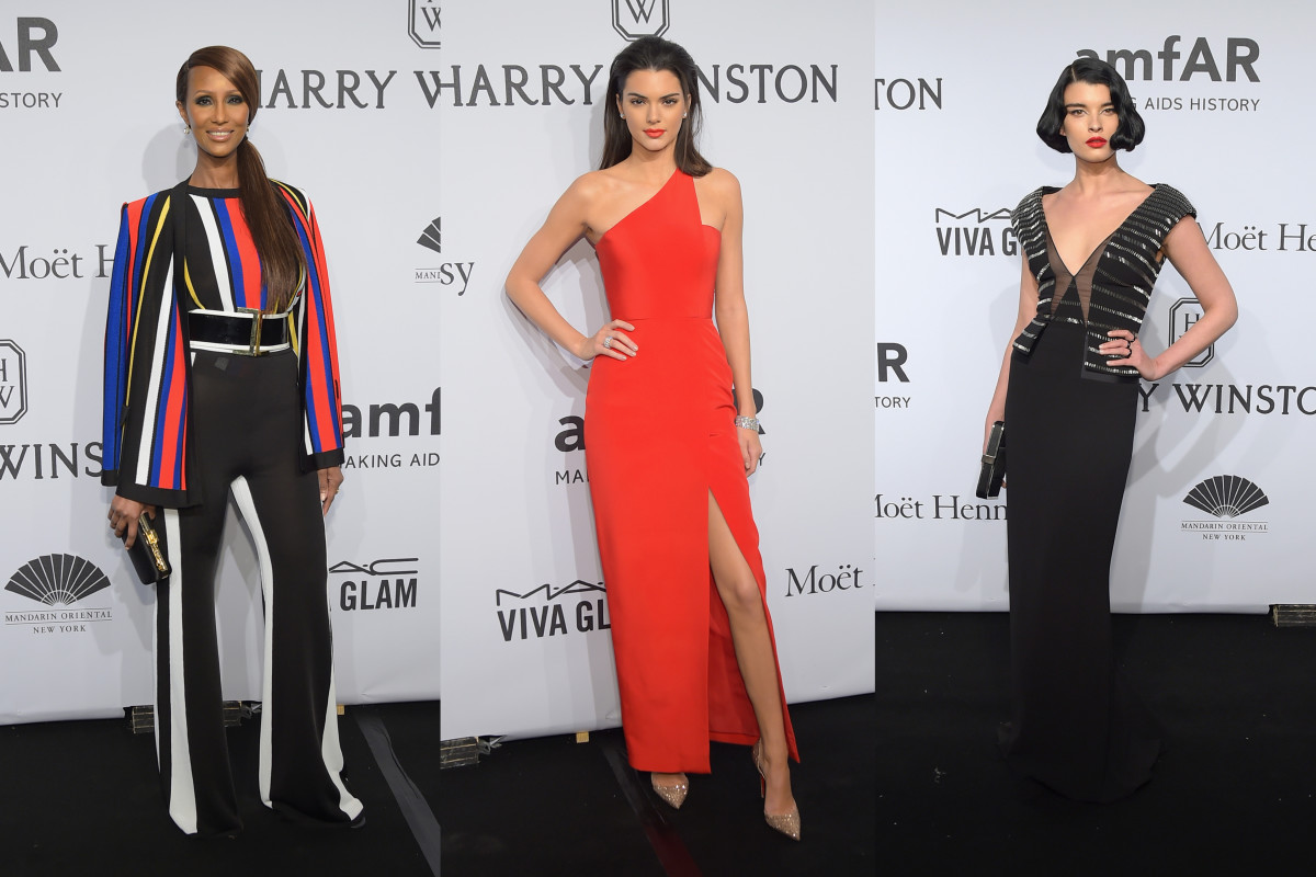 Iman, Kendall Jenner and Crystal Renn. Photos: Michael Loccisano/Getty Images