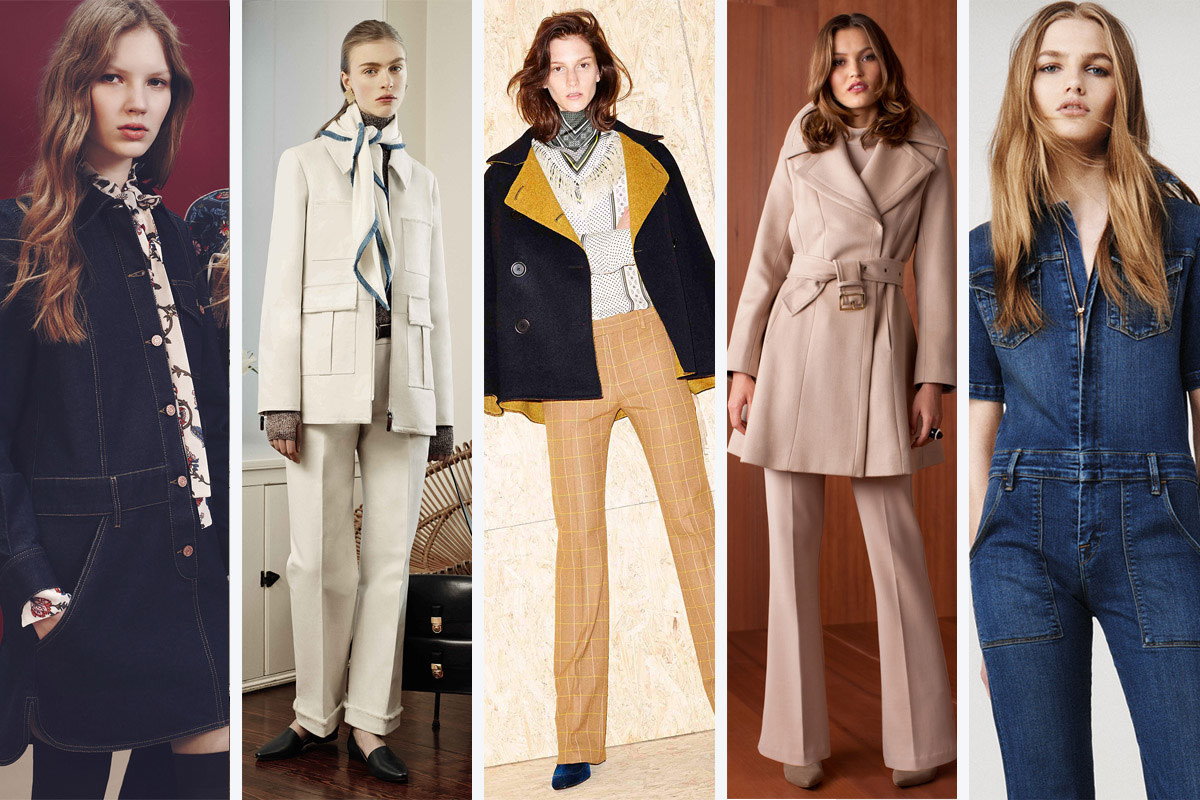 From left to right: See by Chloe, Trademark, Derek Lam 10 Crosby, Trina Turk and Frame Denim. Photos: Courtesy