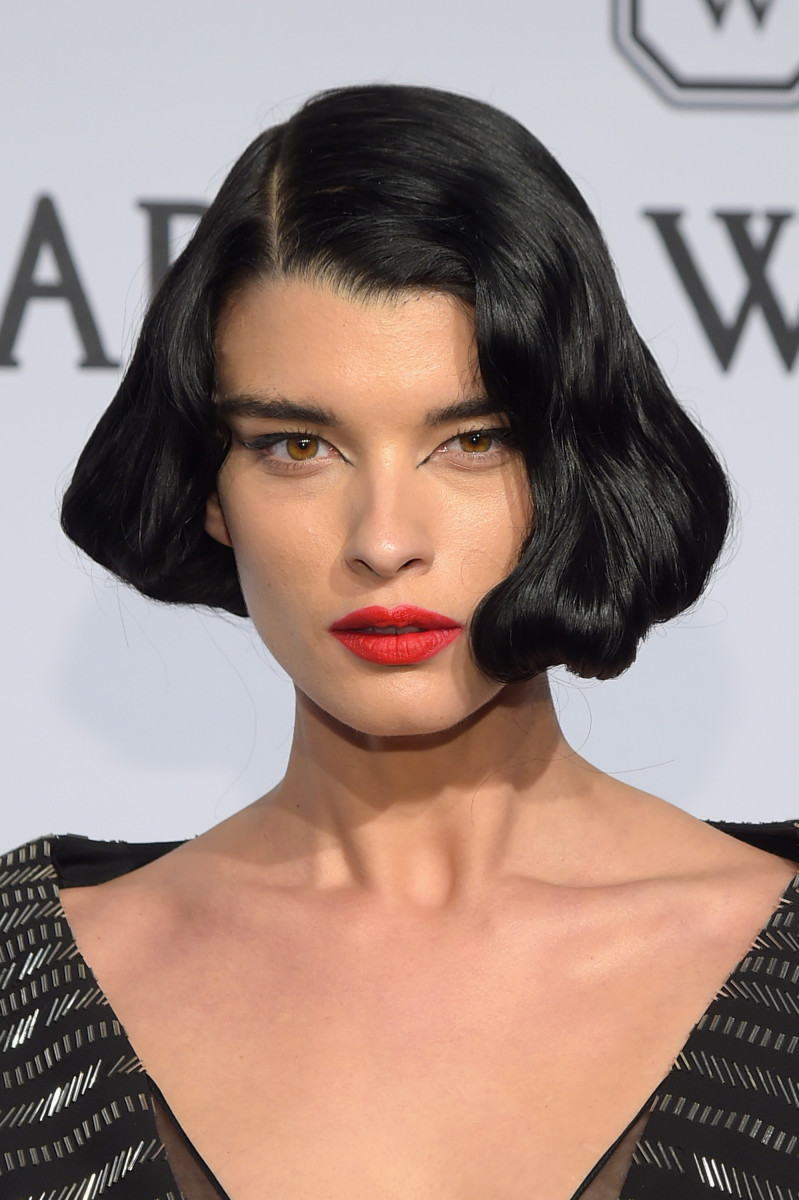 Crystal Renn's exceptional beauty look. Photo: Michael Loccisano/Getty Images