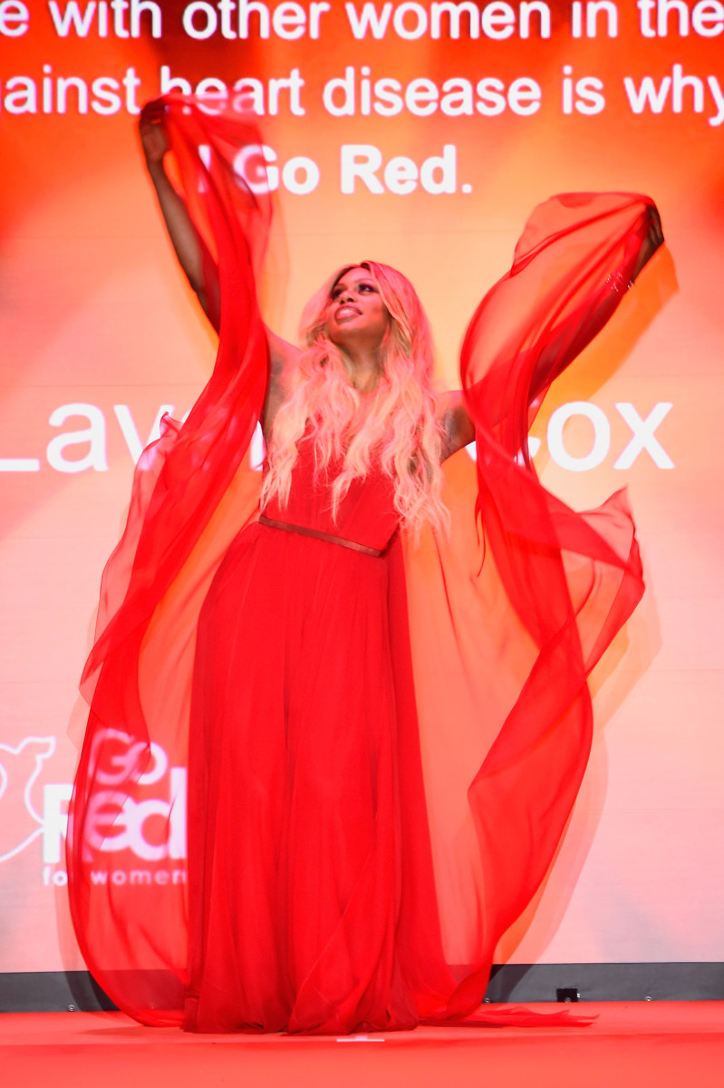 When the crowd went wild for Laverne Cox. Photo credit: Frazer Harrison/Getty Images