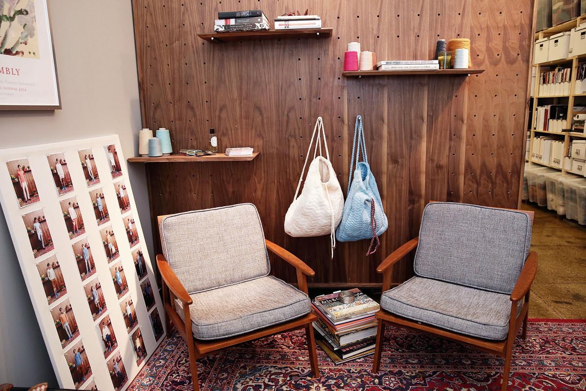 Orley's showroom at the CFDA Incubator. Photo: Mireya Acierto/Getty Images