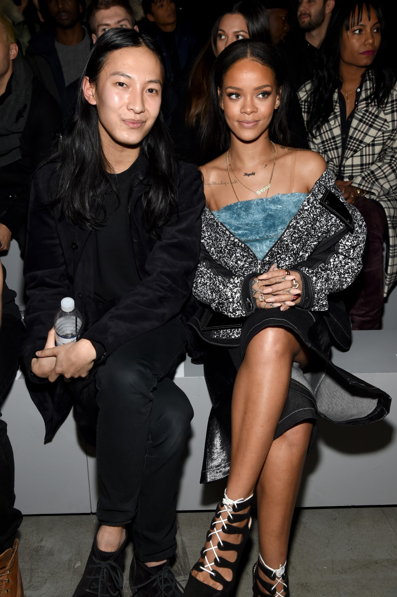 Alexander Wang and Rihanna at the the adidas Originals x Kanye West YEEZY SEASON 1 show. Photo:  Dimitrios Kambouris/Getty Images for adidas