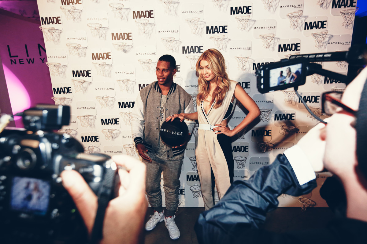 Victor Cruz and Gigi Hadid. Photo: Koury Angelo