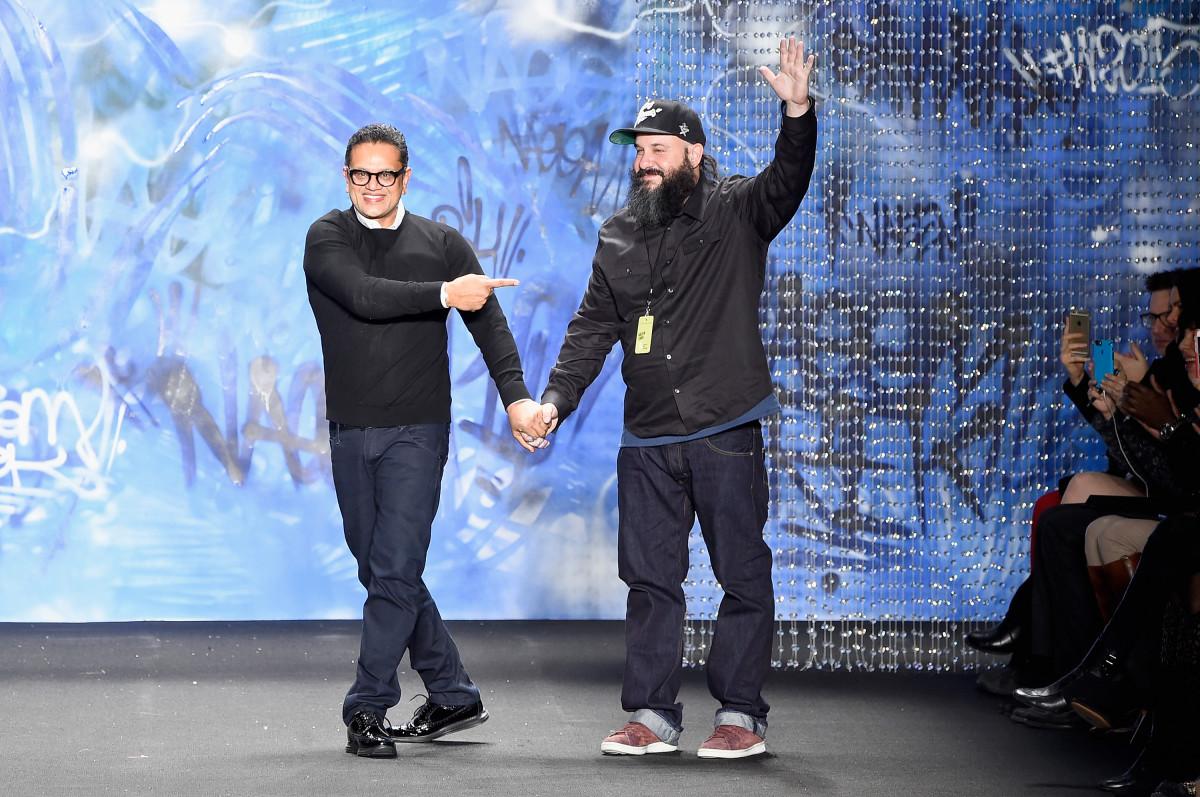 Naeem Khan and Trek6. Photo: Frazer Harrison/Getty Images for Mercedes-Benz Fashion Week