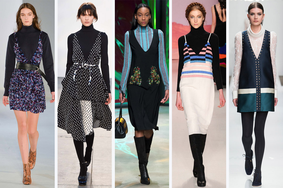 turtleneck under dress trend fall 2015