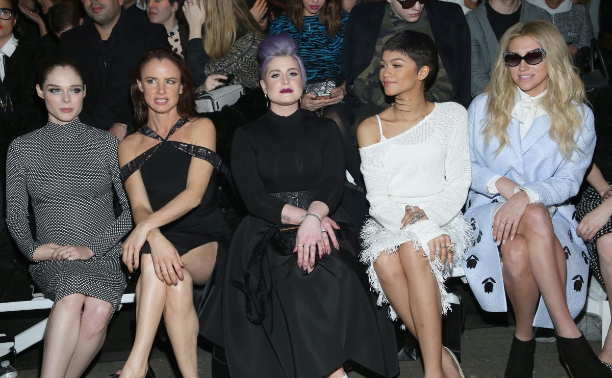 Coco Rocha, Juliette Lewis, Kelly Osbourne, Zendaya, and Kesha. Photo: Cindy Ord/Getty Images