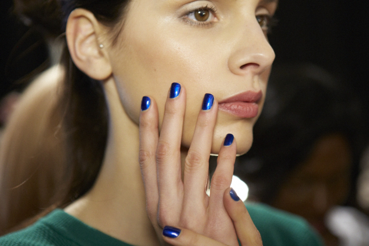 Surprise! Blue metallics are trending. Photo: Essie