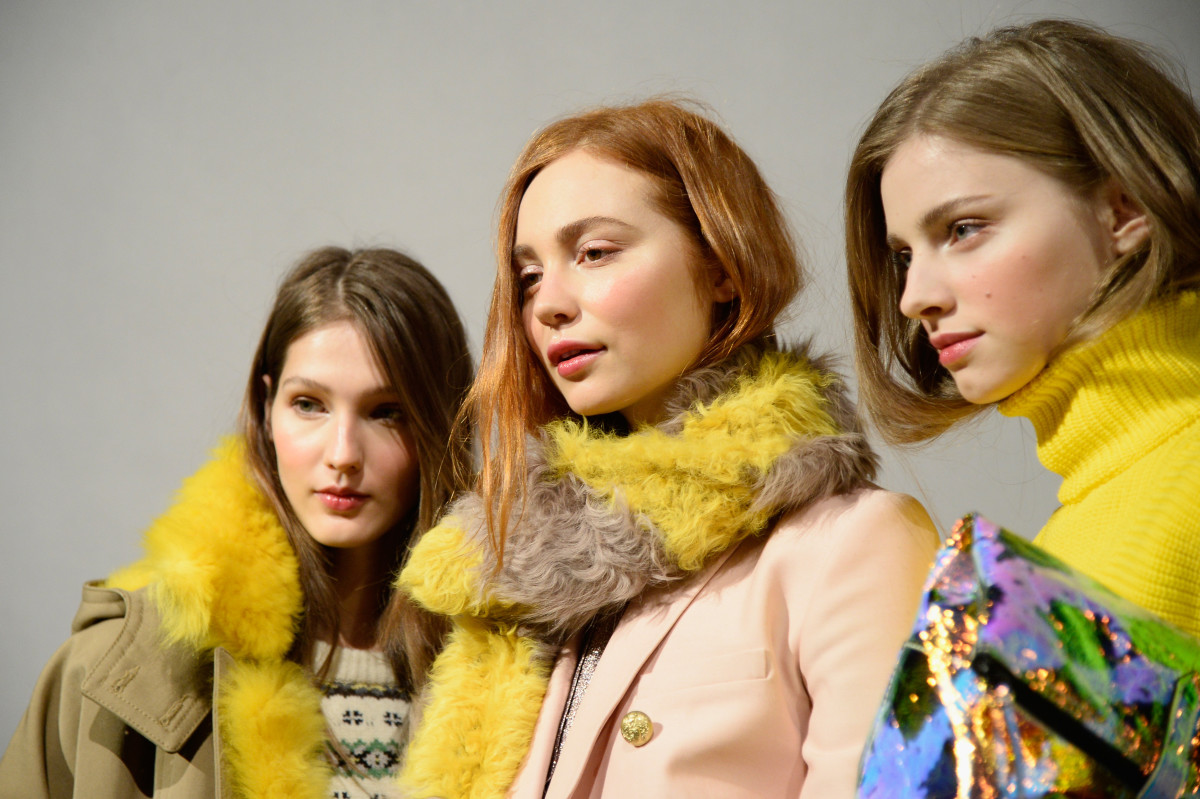 J.Crew's fall 2015 presentation on Tuesday. Photo: Fernanda Calfat/Getty Images