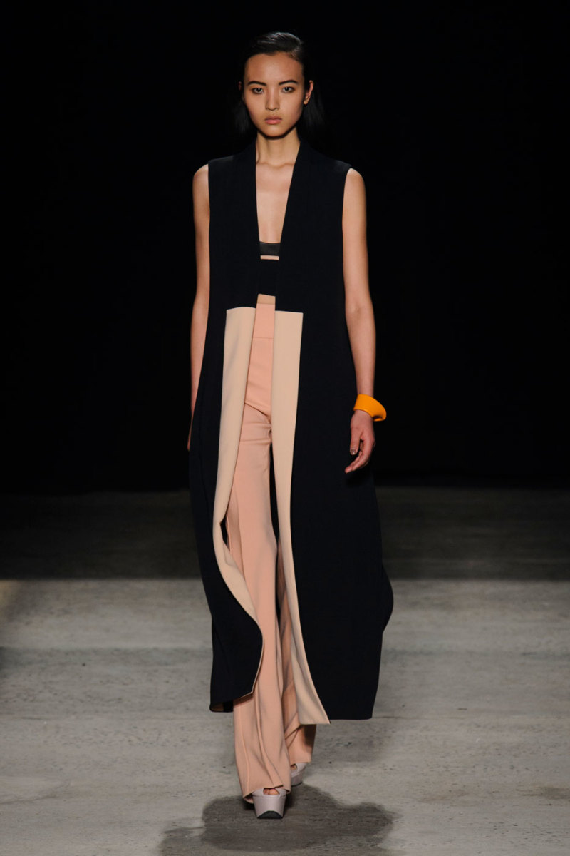 A look from Narciso Rodriguez's fall 2015 collection. Photo: Imaxtree