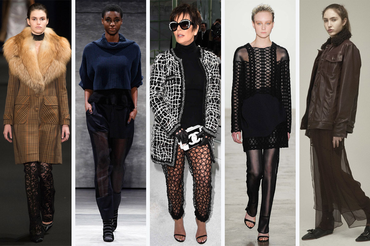 Looks from Altuzarra, Charlotte Ronson, Kris Jenner, Jonathan Simkhai and Collina Strada.