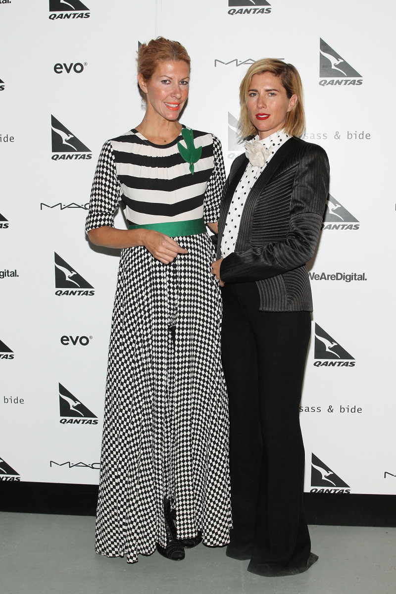 Sass & Bide co-founders Heidi Middleton and Sarah-Jane Clarke at New York Fashion Week in February 2014. Photo: Mireya Acierto/Getty Images