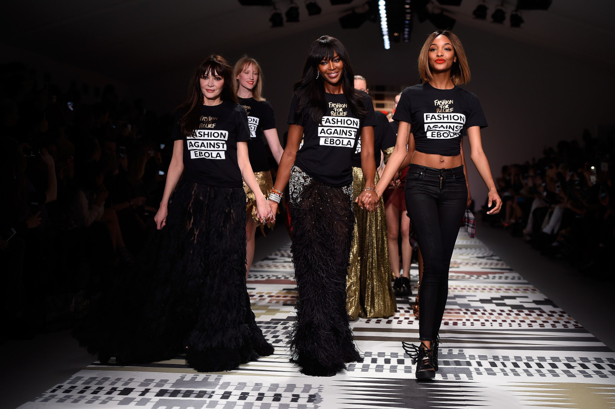Annabelle Neilson, Naomi Campbell and Jourdan Dunn. Photo credit: Ian Gavan/Getty Images