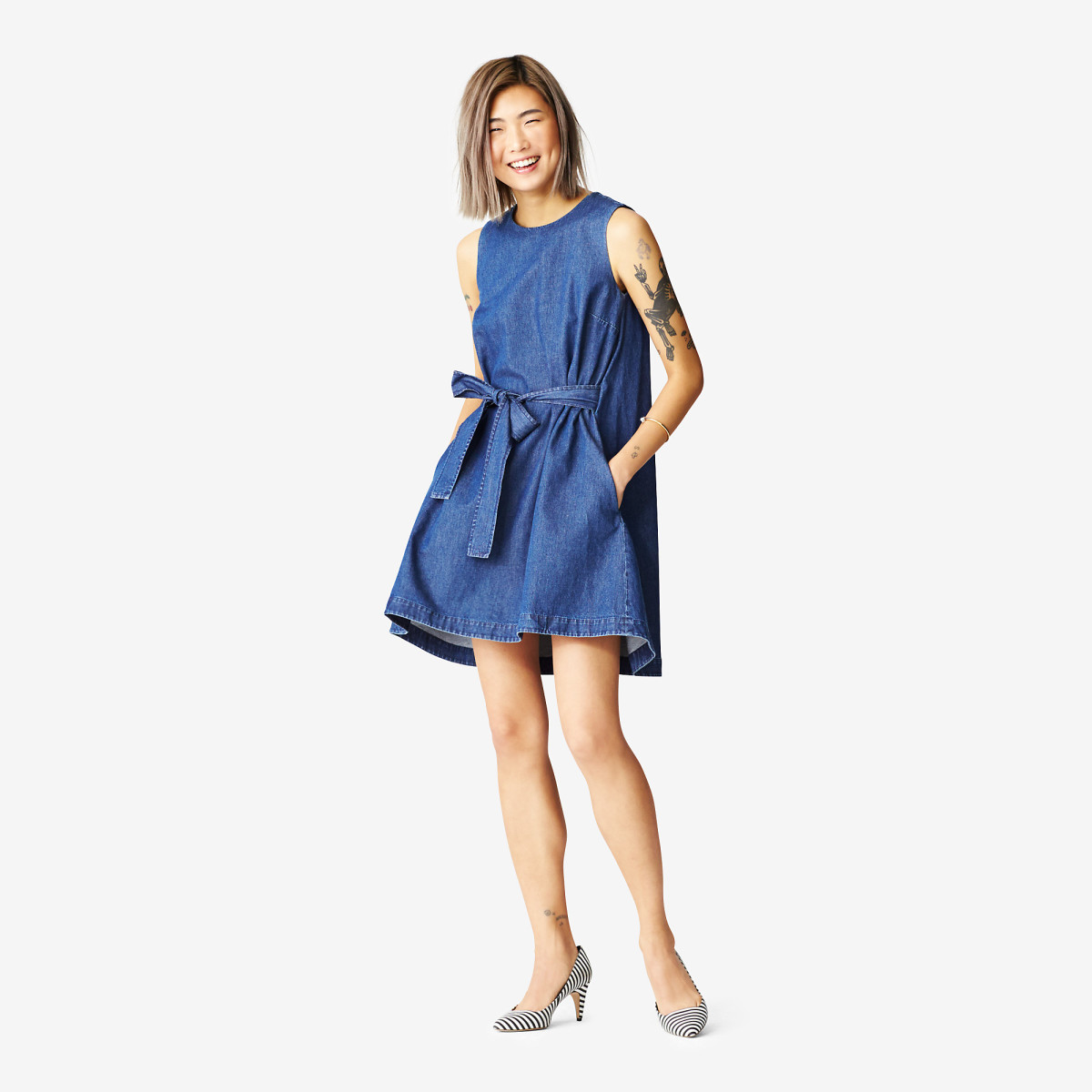 Very into this chambray dress, $90 with code EXTRA40 (from $150), available at Kate Spade Saturday.