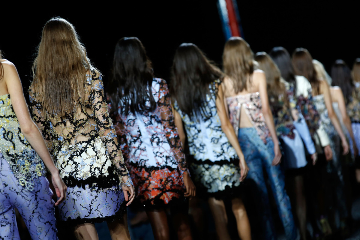 The Mary Katrantzou show in September in London. Photo: Tim P. Whitby/Getty Images