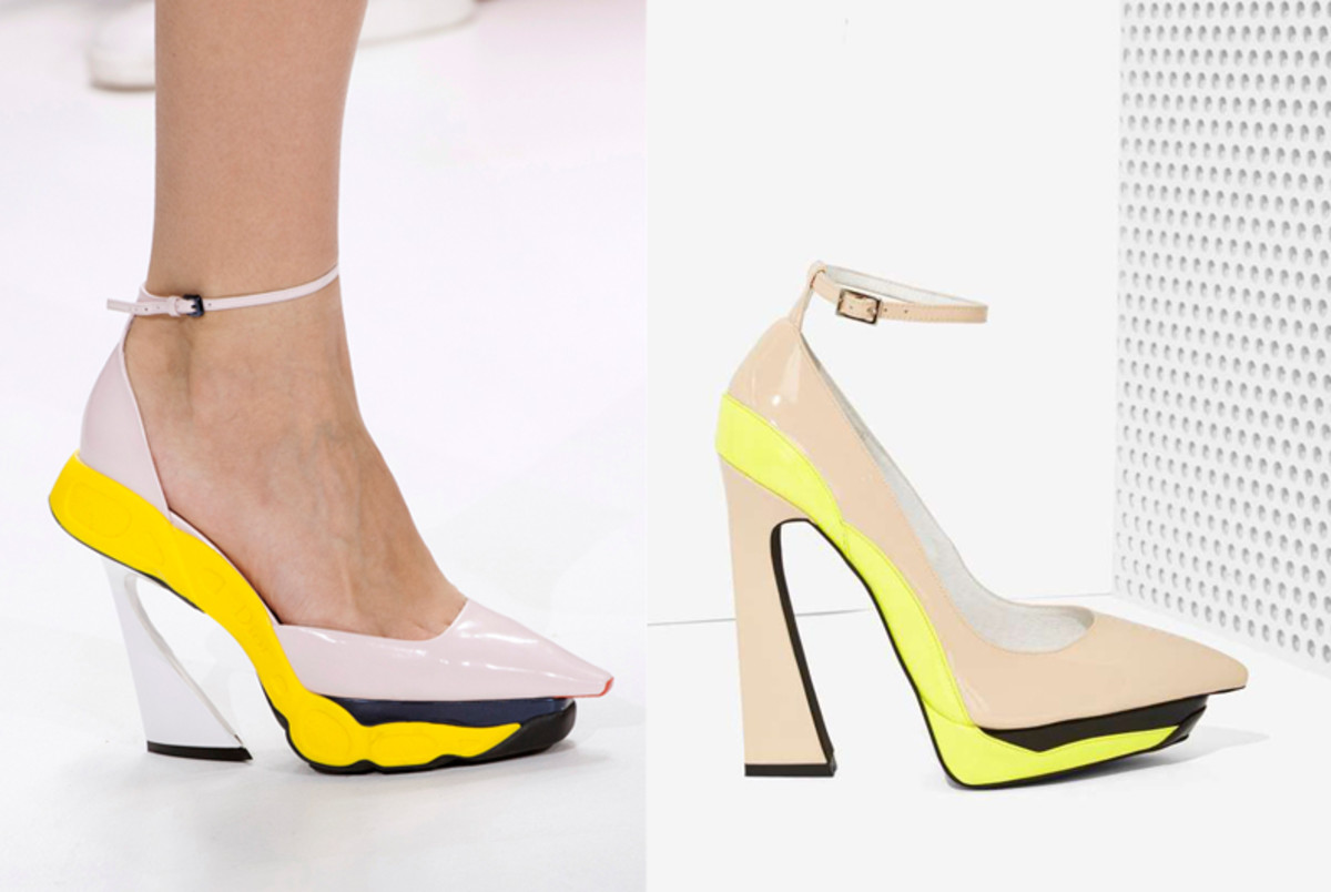 Left: Dior fall 2014/Imaxtree; right: Jeffrey Campbell/Nasty Gal