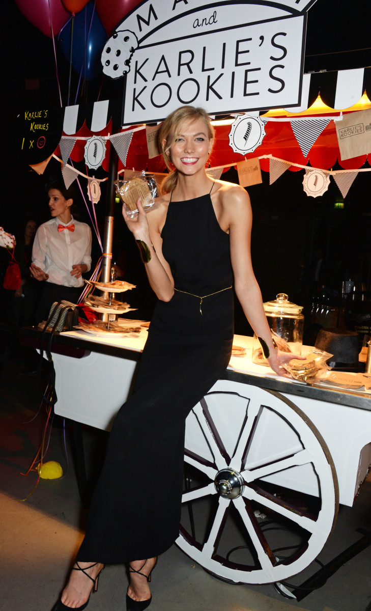 Karlie in front of her kookie stand at the event. Photo: Photo: Naked Heart Foundation