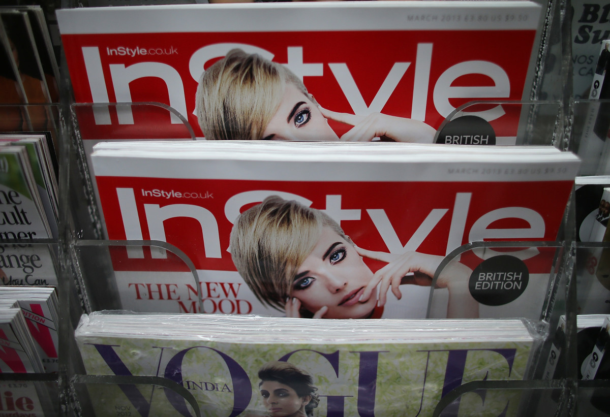 A shot of foreign titles on newsstands in 2013. Photo: Mario Tama/Getty Images