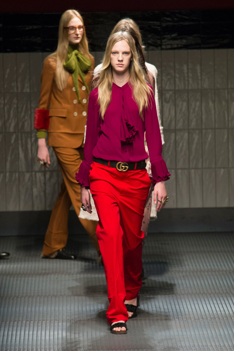 Gucci fall 2015 runway show. Photo: Imaxtree