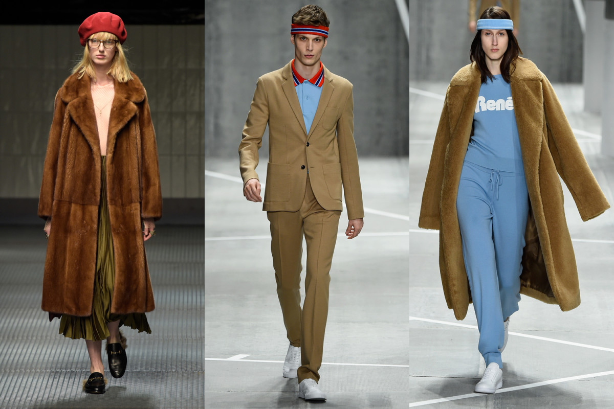 Left, Gucci; Center, Right, Lacoste. Photos: Getty