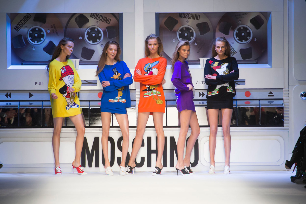 Looney Tunes looks from Moschino's fall 2015 collection. Photo: Imaxtree