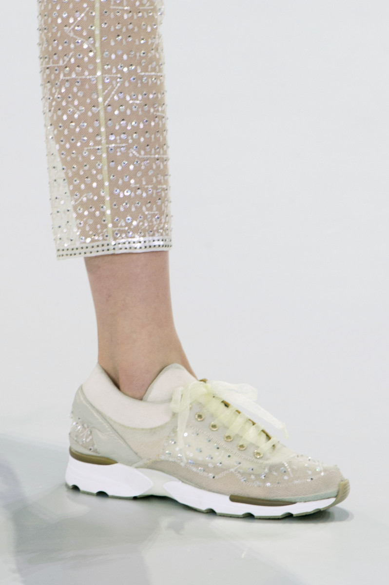 A sneaker on the runway of the Chanel Haute Couture spring 2014 show. Photo: Imaxtree