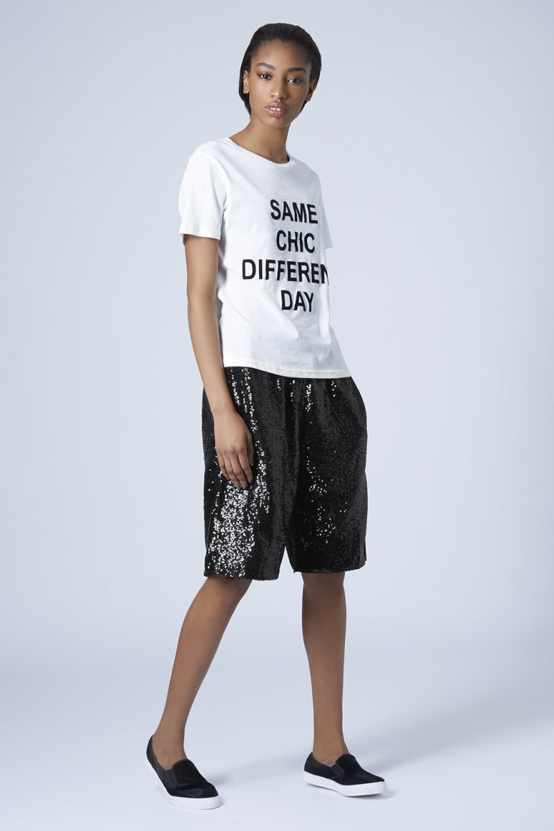 The sparkliest shorts in all the land, $35 (from $150), available at Topshop.