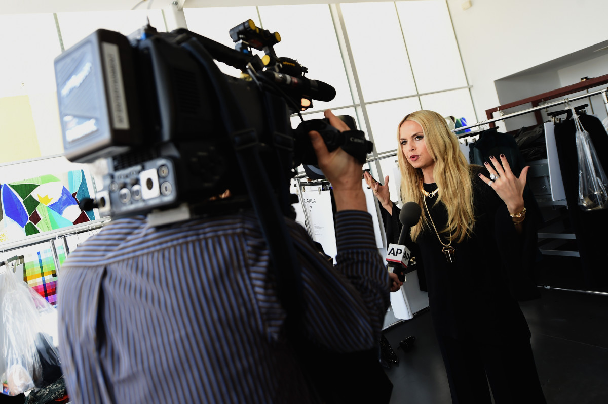 Rachel Zoe at her fall 2015 presentation during New York Fashion Week. Photo: Dimitrios Kambouris/Getty Images