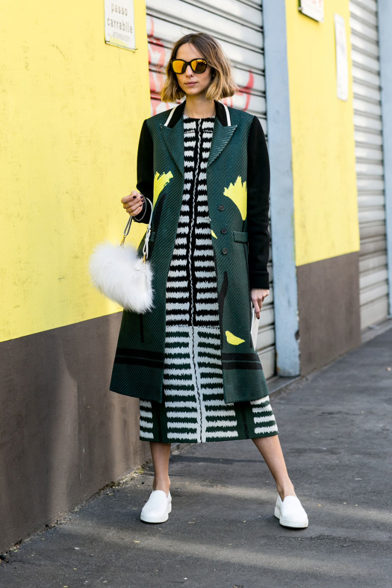 A dress and coat from Marni's spring 2015 collection. Photo: Imaxtree