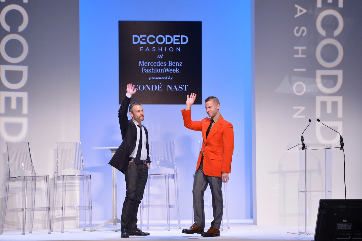 Fab co-founders Jason Goldberg and Bradford Shellhammer in 2013. Photo: Stephen Lovekin/Getty Images