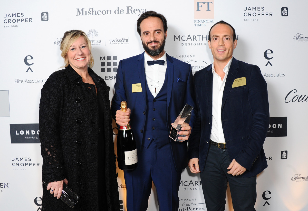 Farfetch founder Jose Neves, center. Photo: Stuart C. Wilson/Getty Images
