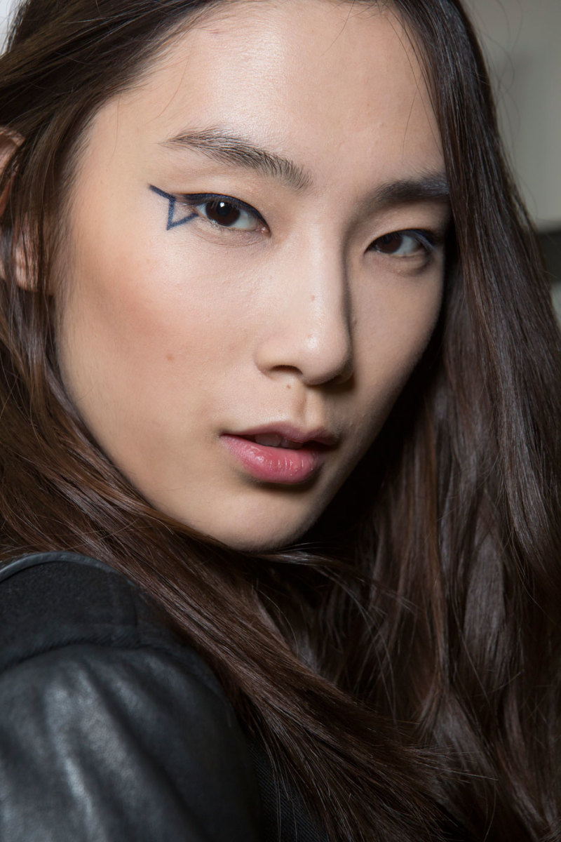 A beauty look from Anthony Vaccarello's fall 2015 show. Photo: Imaxtree