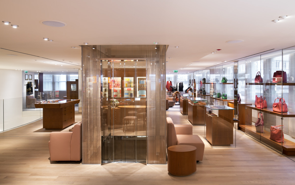 Inside Hermès's recently renovated flagship at 155 New Bond Street. Photo: Hermès