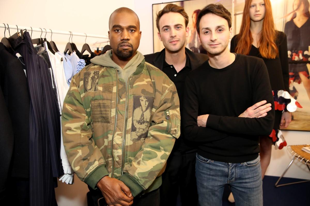 Kanye West with LVMH Prize semi finalists Coperni. Photo: Saskia Lawaks