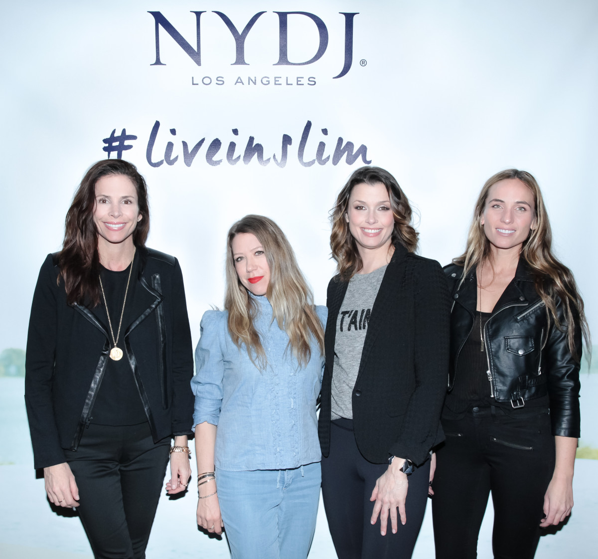 Cristina Ehrlich poses with fellow NYDJ Creative Board members Fiona Stiles, Bridget Moynahan and Jeanann Williams. Photo: Kelly Taub/BFAnyc.com