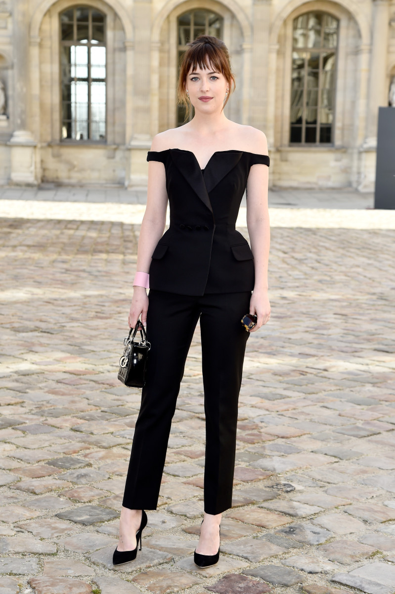 Dakota Johnson in Dior. Photo: Pascal Le Segretain/Getty Images