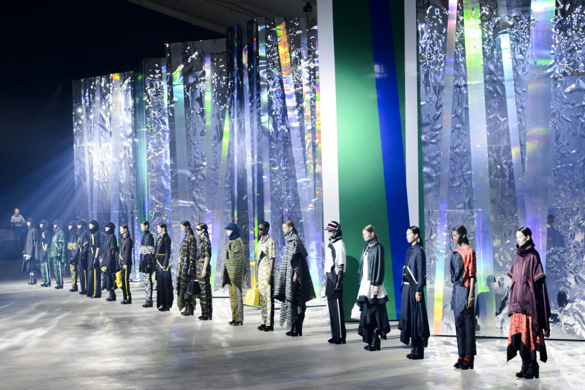 Kenzo's fall 2015 finale. Photo: Imaxtree