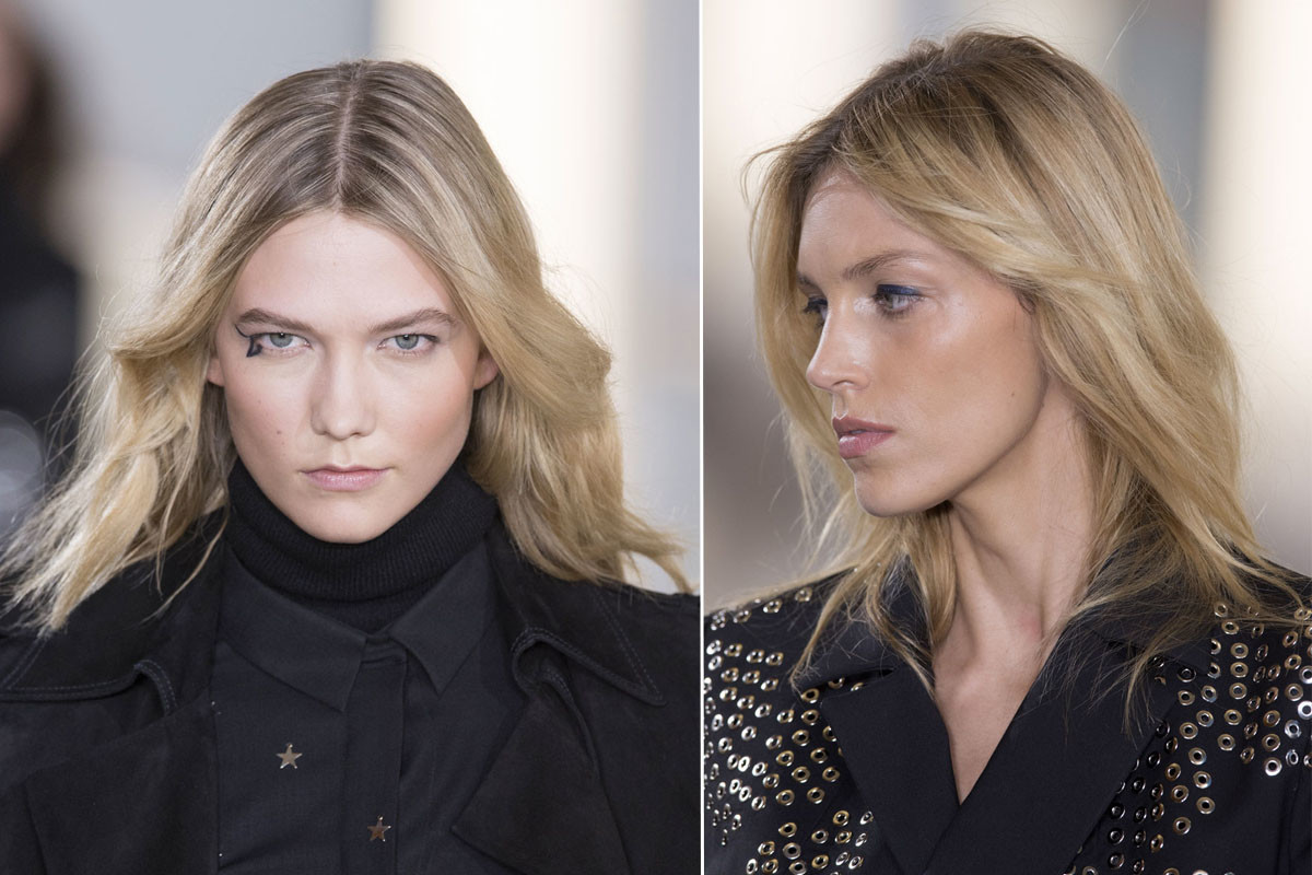 The beauty look at the fall 2015 Anthony Vaccarello show. Photos: Imaxtree