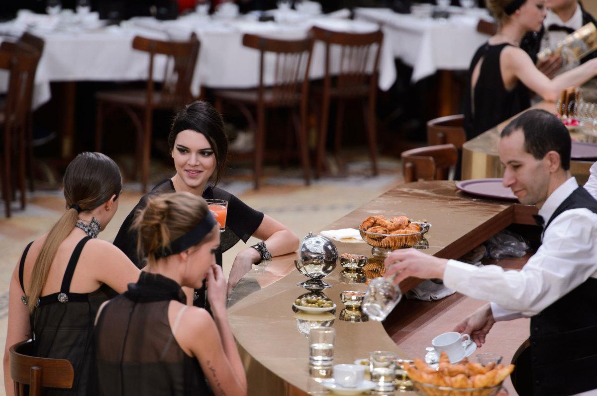 Chanel's brasserie. Photo: Imaxtree