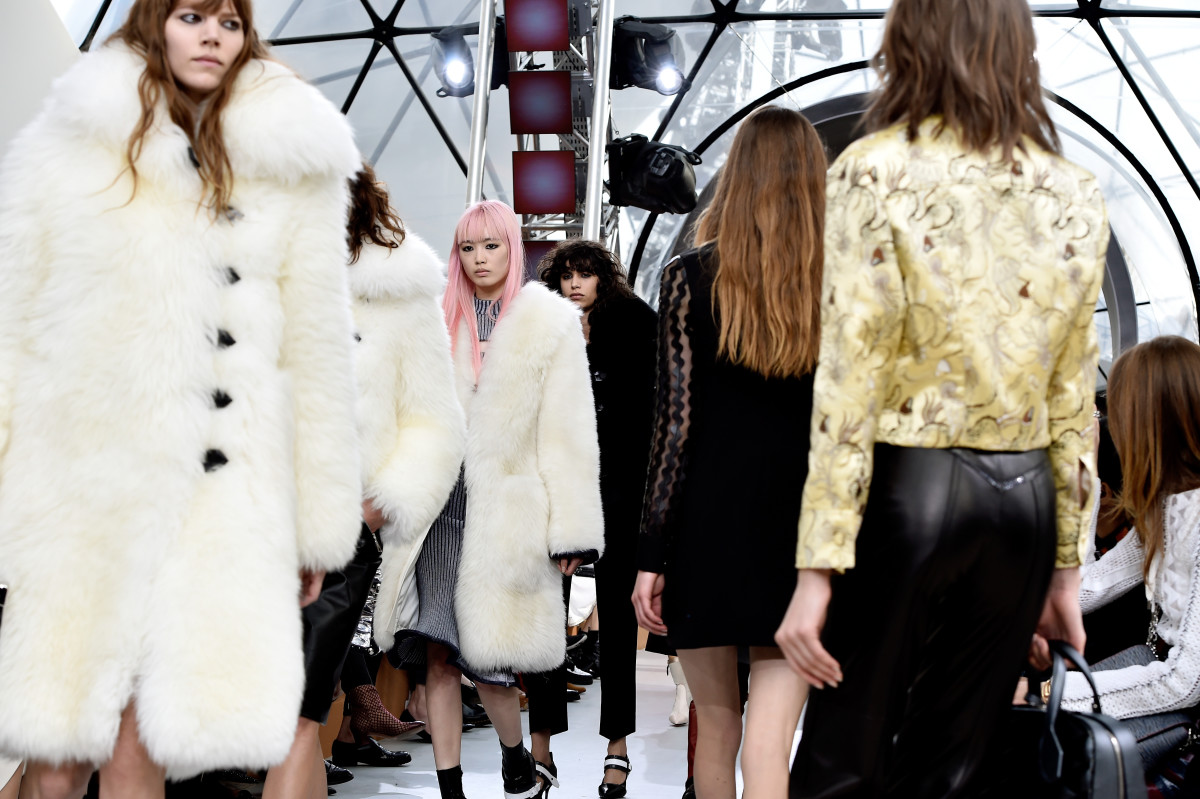 The finale at Louis Vuitton's fall 2015 collection show. Photo: Pascal Le Segretain/Getty Images