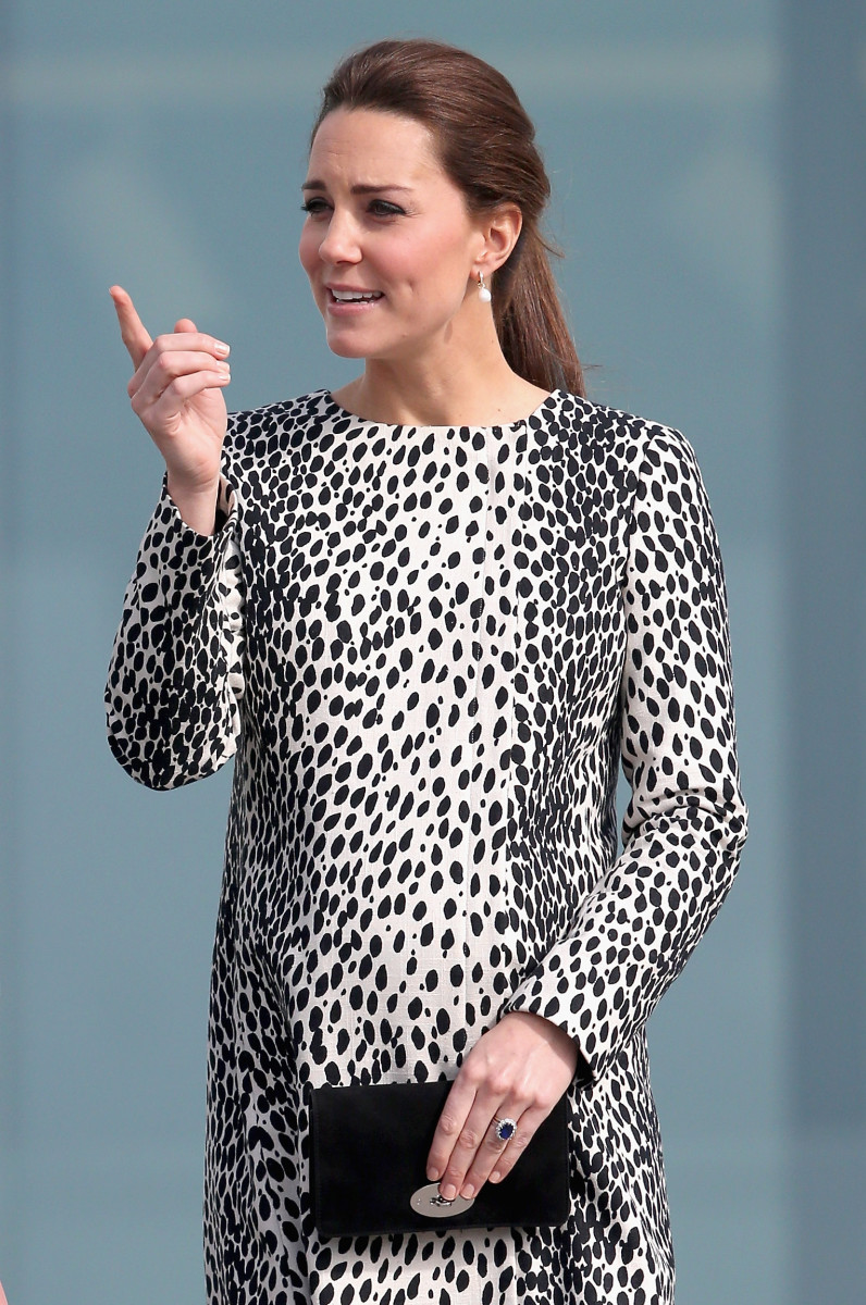 Free Tumblr idea: The Duchess of Cambridge pointing at things. Photo: Chris Jackson/Getty Images