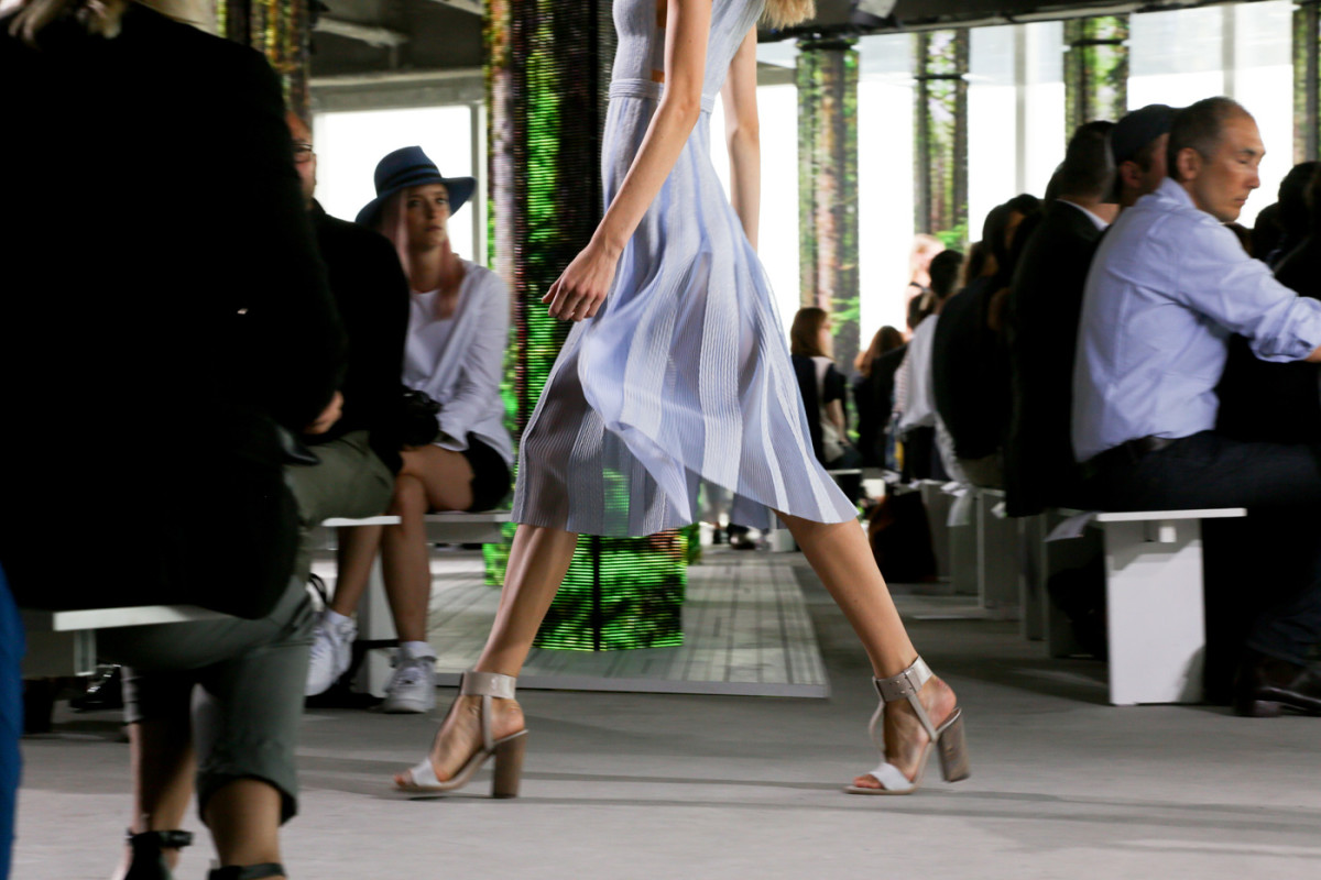 Hugo Boss's spring show. Photo: Imaxtree