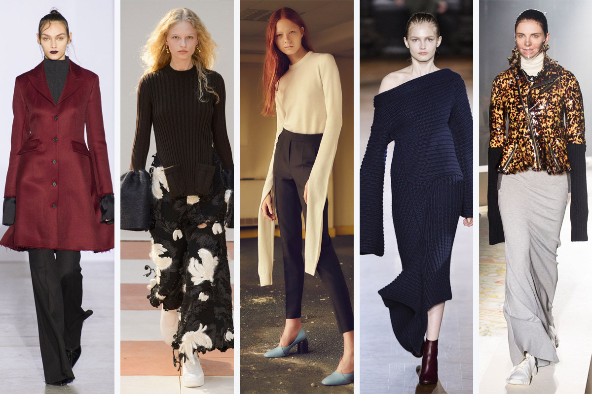 From left to right: Yang Li, Céline, Coperni Femme, Stella McCartney and Undercover. Photos: Imaxtree