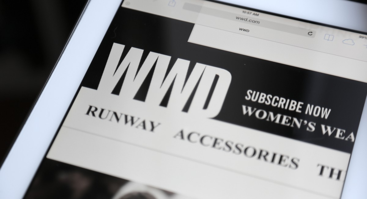 'WWD' on the iPad. Photo: Andrew Lampard/Fashionista