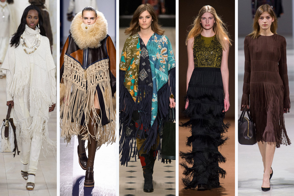From left to right: Ralph Lauren, Sacai, Burberry Prorsum, Andrew Gn and Nina Ricci. Photos: Imaxtree